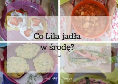 Co Lila jadła w środę? 13