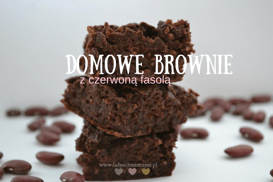 Domowe brownie z czerwoną fasolą