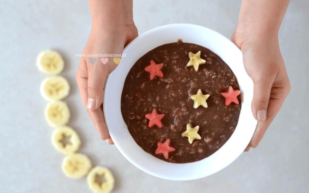 czekoladowa owsianka dla dzieci