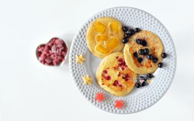 Placki z bieluchem i owocami BLW