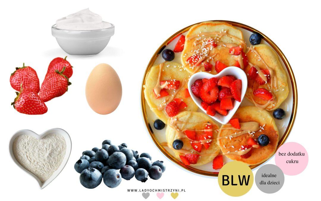 Placki jogurtowe z owocami BLW