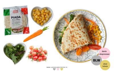 Piada z warzywami i indykiem BLW