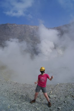 Me dancing at the main crater's edge!