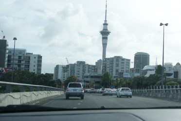 Auckland (picture taken the day before, when it was sunny)
