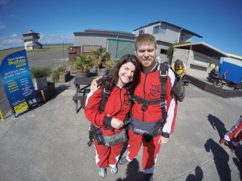 Ian and I as skydiving virgins.