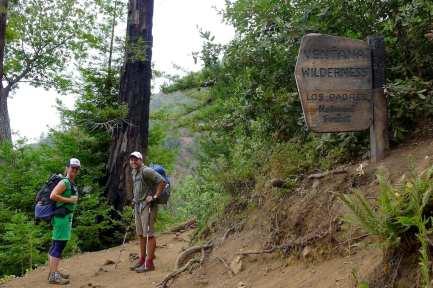 Entering Ventana Wilderness