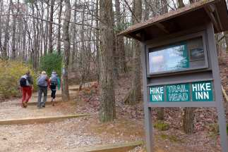 Beginning of trail to the Hike Inn