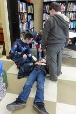 First aid demonstration