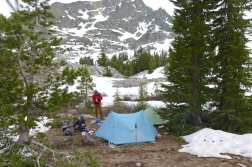 Camp above Ediza Lake