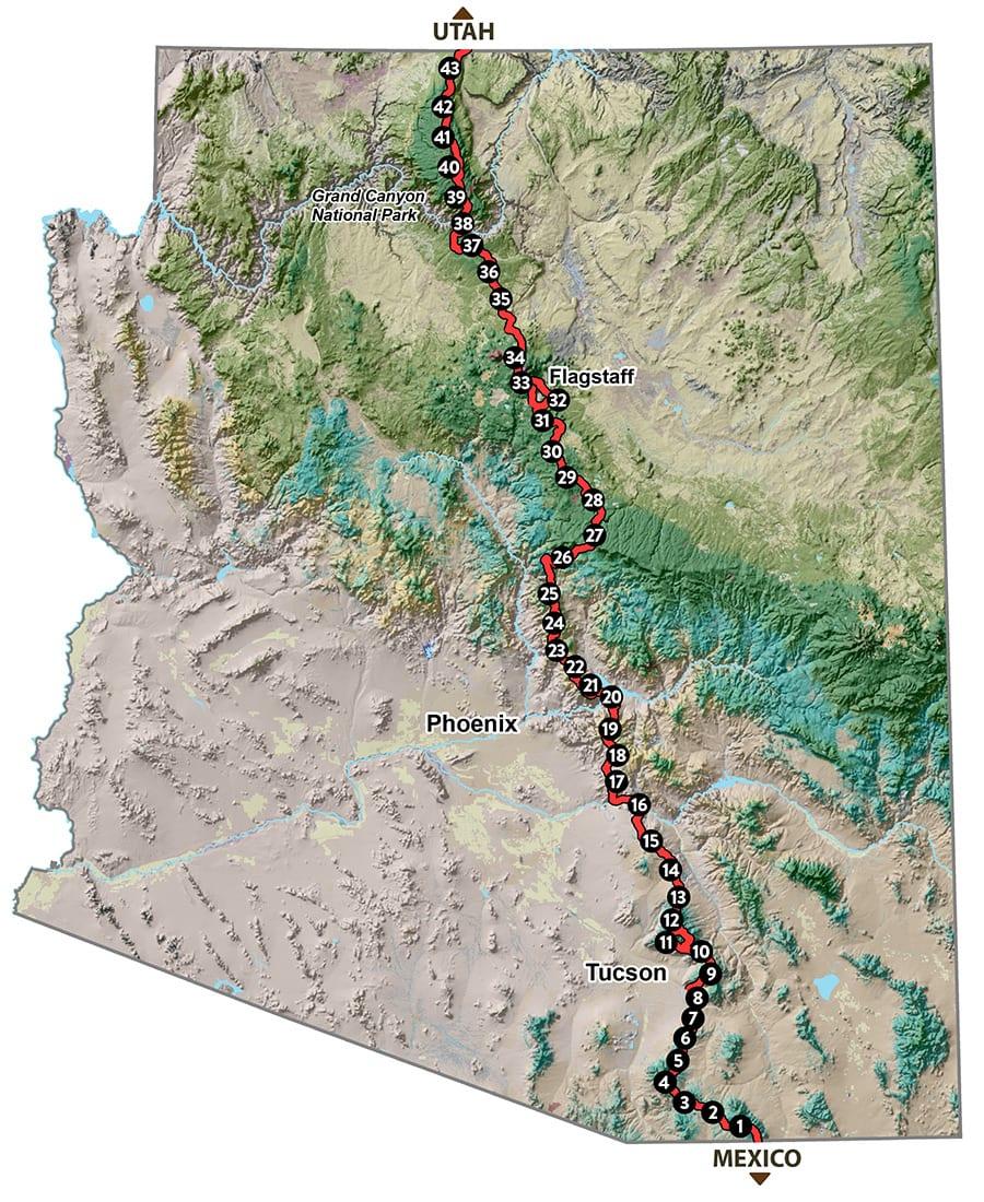 Arizona Trail Map