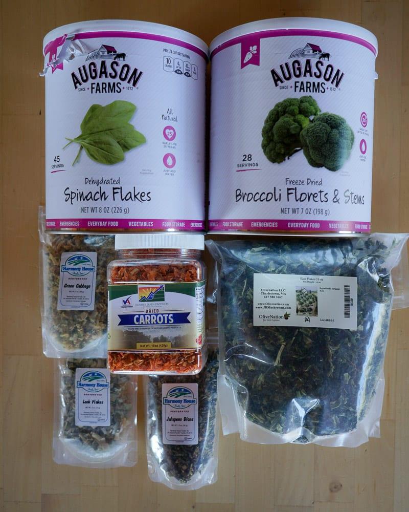 Backpacking Dinner Vegetables