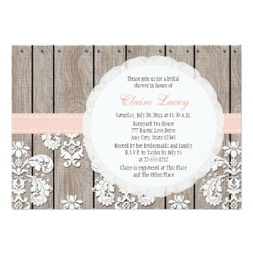Rustic Bridal Shower Invitations Is One Of The Best Idea To Make Your Own Invitation Design 2