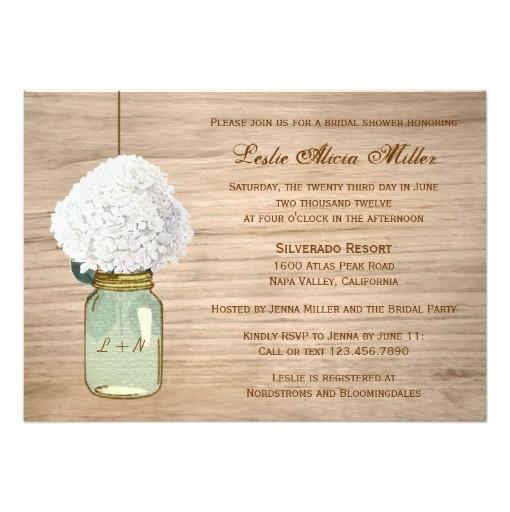 Rustic Vine Mason Jar Invitations