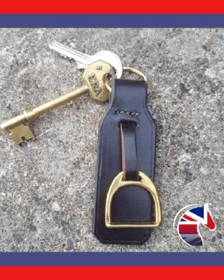 Brass Stirrup Keyring Shop Image