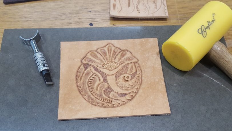 Leather Carving and Tooling Workshop at Tandy UK
