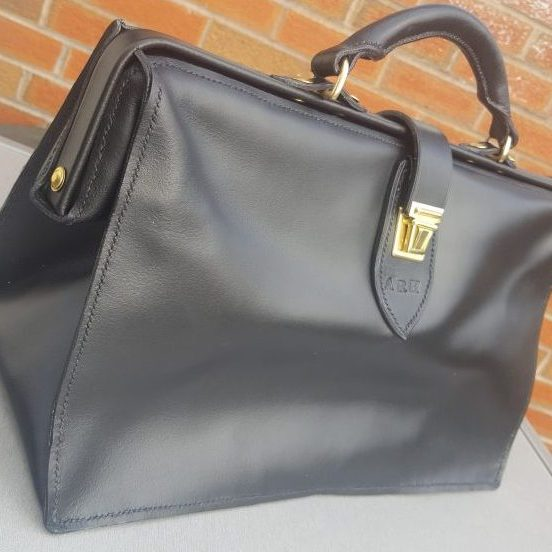 Black Soft Leather Doctors Bag