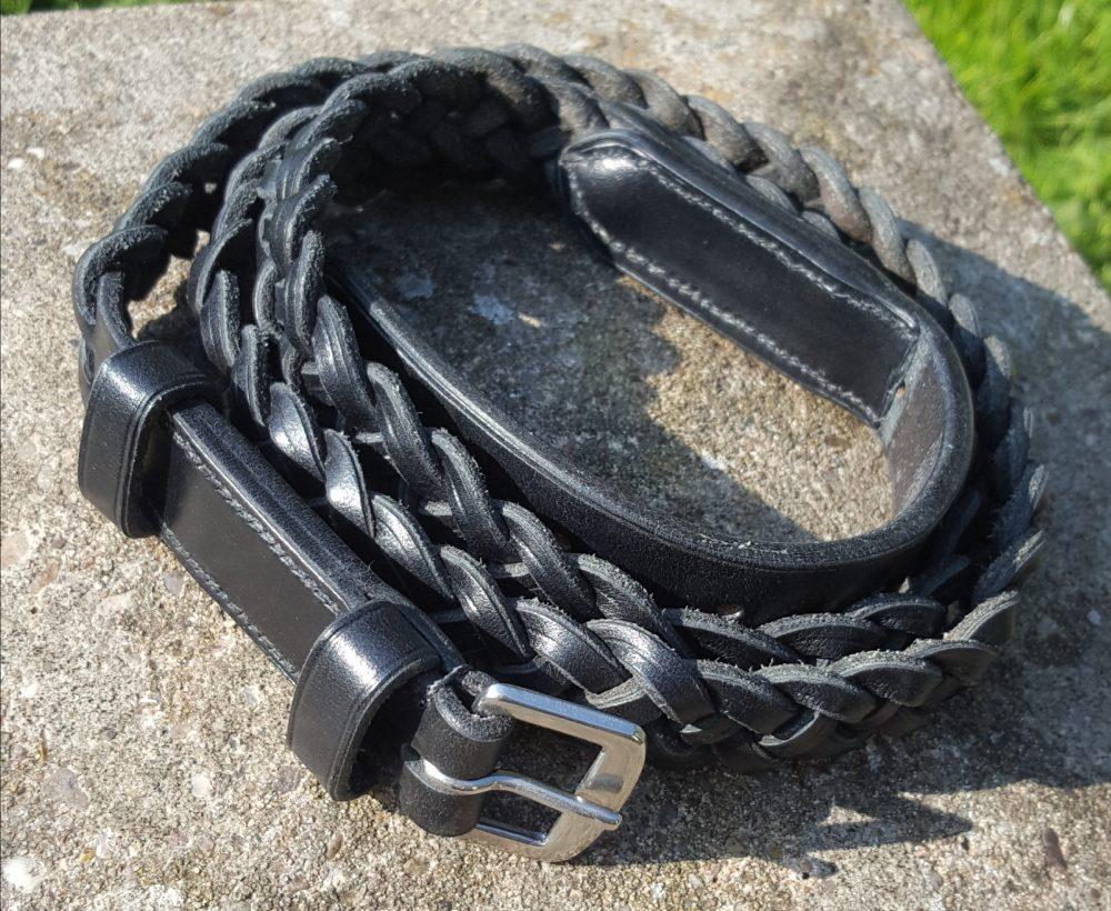 Black Sedgwick Bridle Leather Plaited Neck Strap