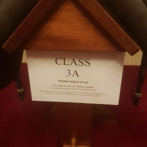 Class 3A Trainee Saddle Rural