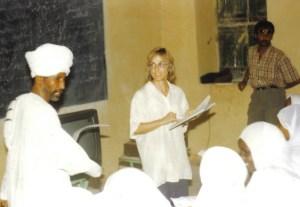 Hilda at work in Sudan