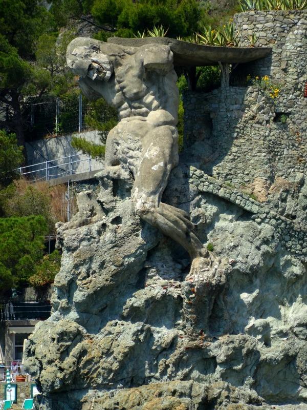 Giant Neptune statue