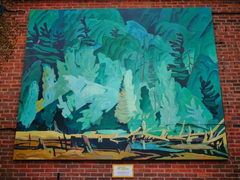 Huntsville mural copy of AJ Casson's Summer Hillside