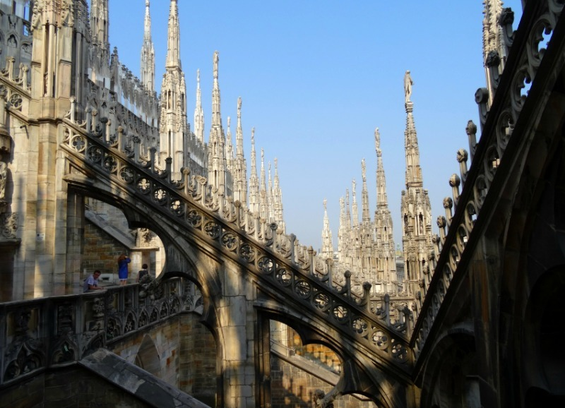 Milan Duomo Cathedral's rooftop