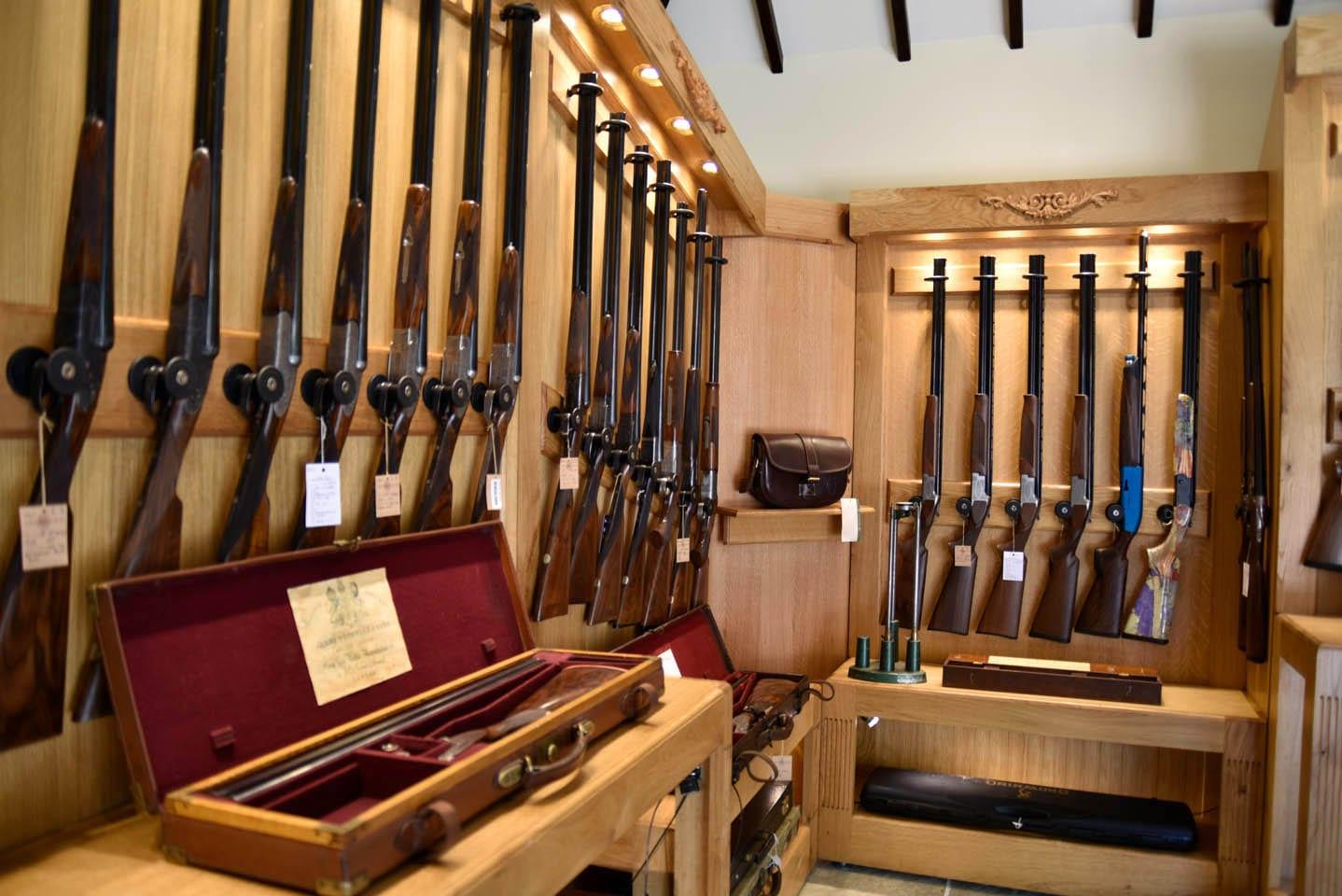 Gun rack at Sportarm at Lady's Wood Gun Room