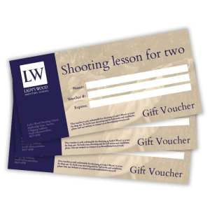 Shooting lesson for two clay shooting gift voucher redeemable at Lady's Wood Shooting School near Bristol