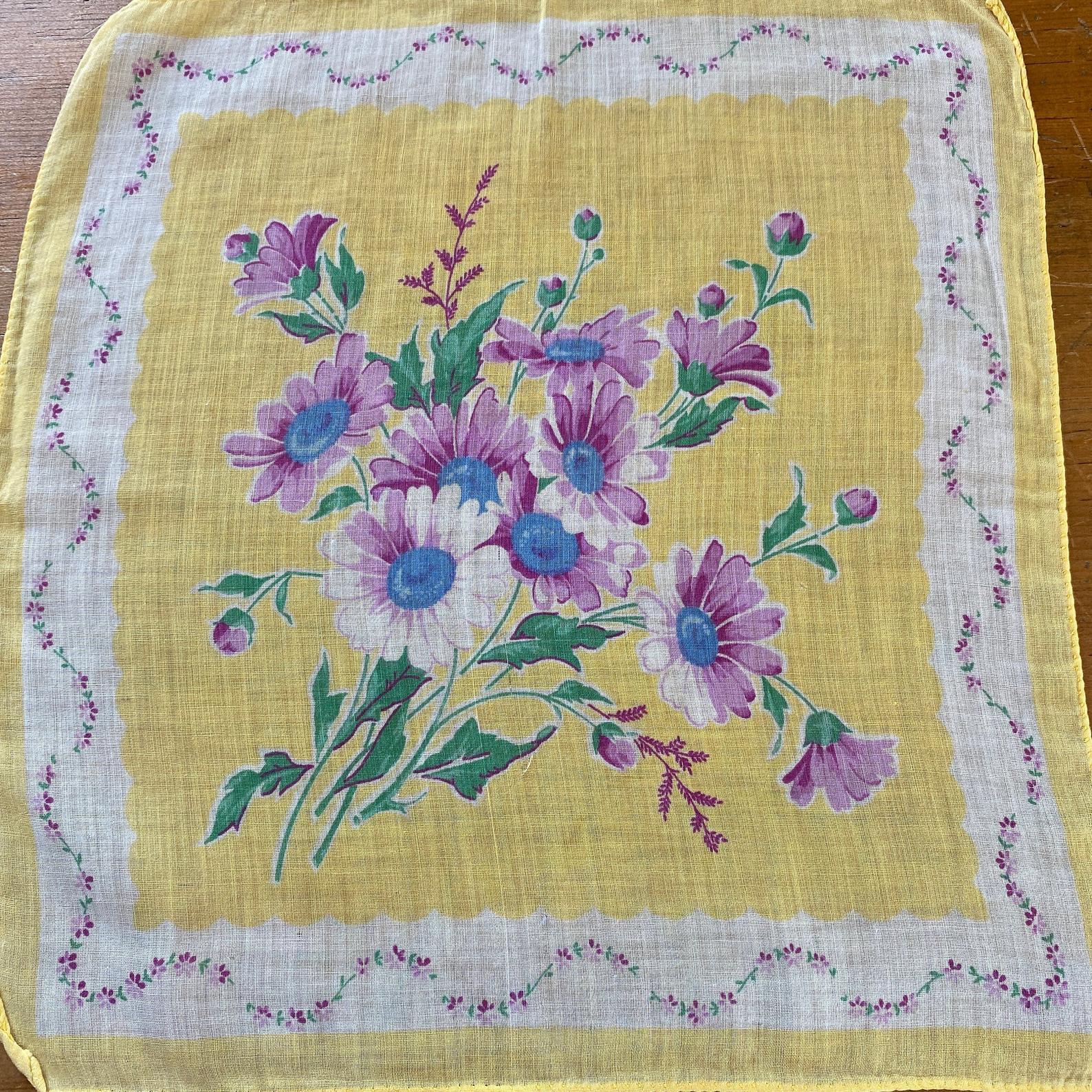 Vintage Daisies Handkerchief