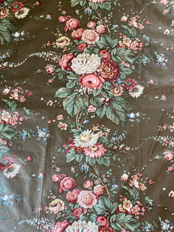 Vintage 1950s Bailey & Griffin Floral Fabric