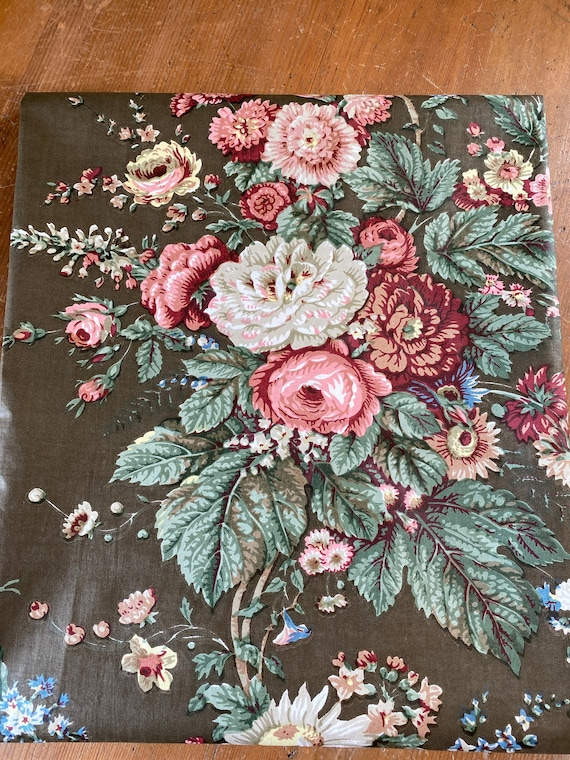 Vintage 1950s Bailey & Griffin Floral Fabric Sample