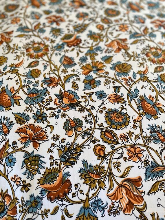 "1960s David and Dash ""Richmond on Utopia"" Floral Fabric"
