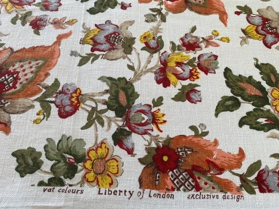 "Vintage 1960s Jofa ""Tudor"" Liberty of London Fabric"