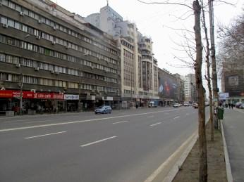 Wide streets in Bucharest