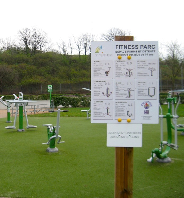 Open-air gym in Lyon