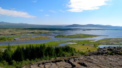 Þingvellir national park: on the left side - North American tectonic plate, on the right side - Eurasian one.