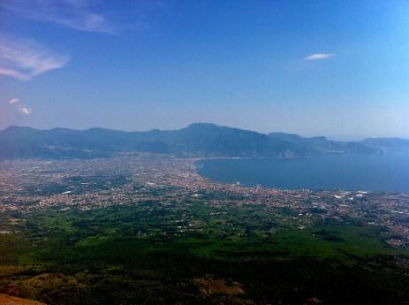 Views from Vesuvius volcano.