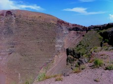 On top of Vesuvius volcano.