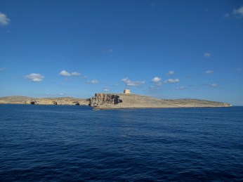 Comino island on the way from Malta to Gozo