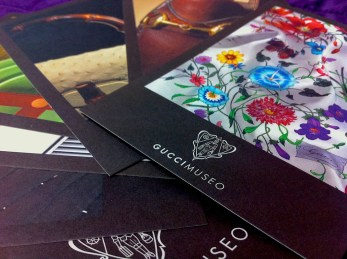 Gucci museum cards