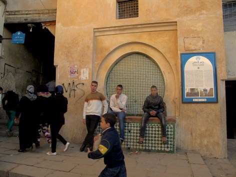 Young locals, spending time in Medina of Fès