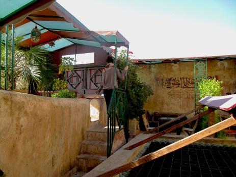 Me on the restaurant terrace in Fès Medina