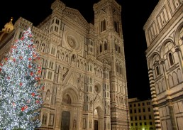 Christmas tree in Duomo, Cathedral square