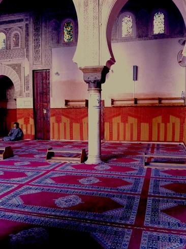 Inside the Bou Inaniya medersa