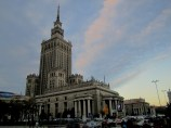 Second stage: Warsaw in the evening. In the picture - Palace of Culture and Science in Warsaw