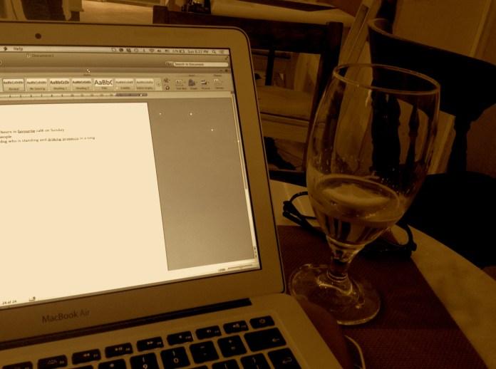Working in the Florentine café