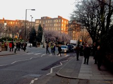Behind the scenes of all the photos done on Abbey Road crossing in the way like the Beatles did.