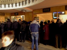 Lines in the post-office, Pogradec