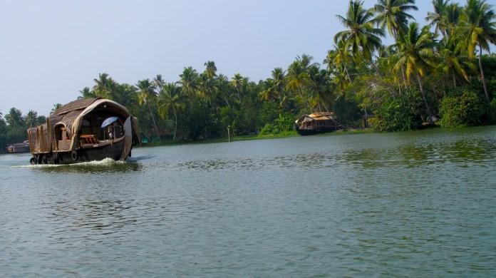 Alleppey backwaters in Kerala, India