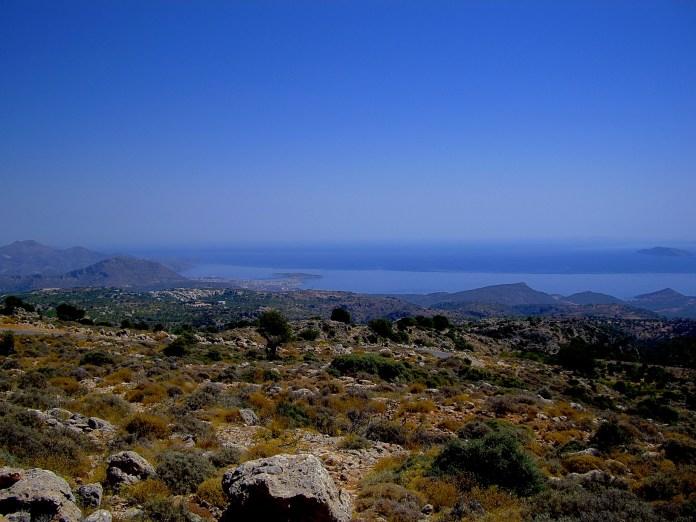 Sky over the island of Crete, Greece